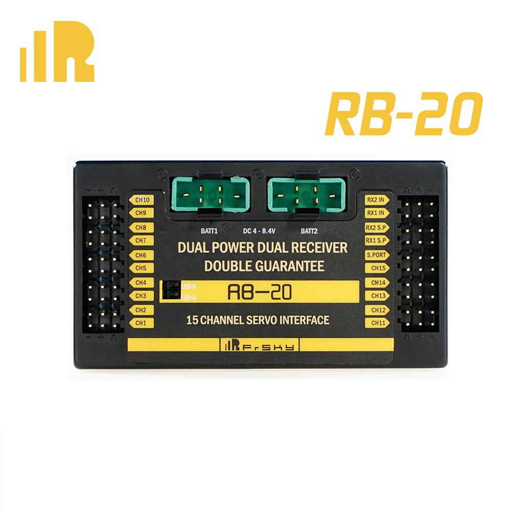 FrSky Redundancy Bus –20 Telemetry Auto-switch & Maximum current-output Up to 10A