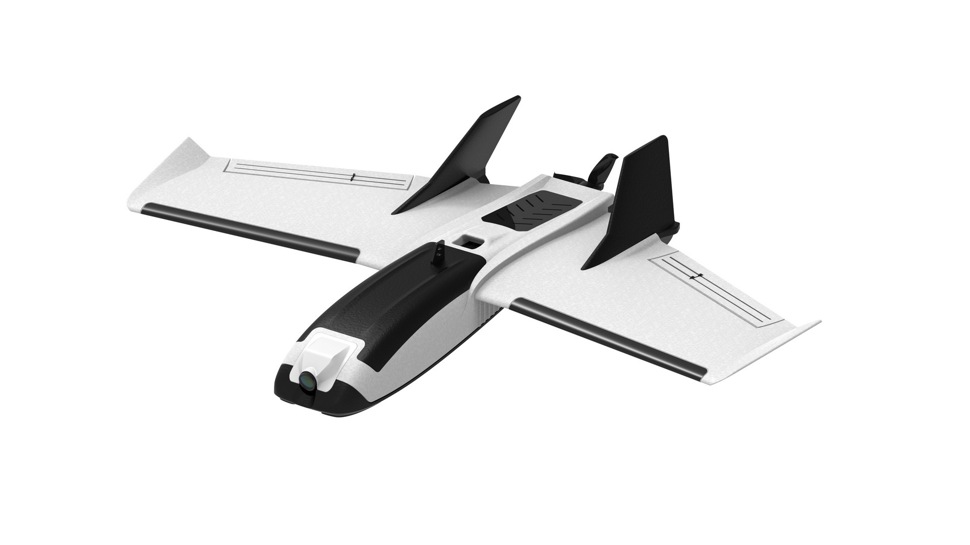 Without further ado, we have the RC Airplane Kit to Build with the lightest and smallest plane out of the three that will appear throughout this list: ZOHD Dart250G 570mm Wingspan Sweep Forward AIO Wing EPP FPV RC Airplane. As per the request of many users of ZOHD models, this model was created to respect 250 grams weight limit that arbitrarily seems to have been established around the world.